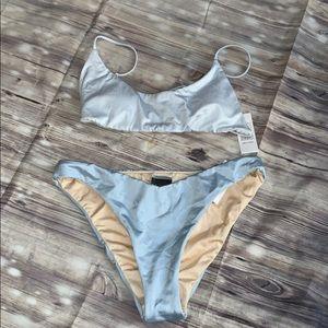 La hearts bikini set women's baby blue ☀️